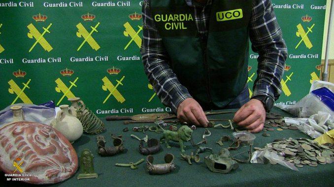 Artefactos recuperados na Operação SARDICA